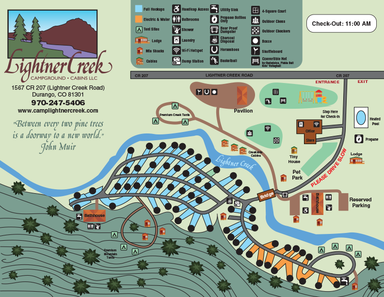 2021 campground map for lightner creek campground